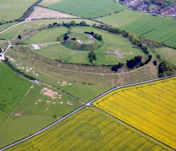 Old Sarum England listed in the Domesday book.